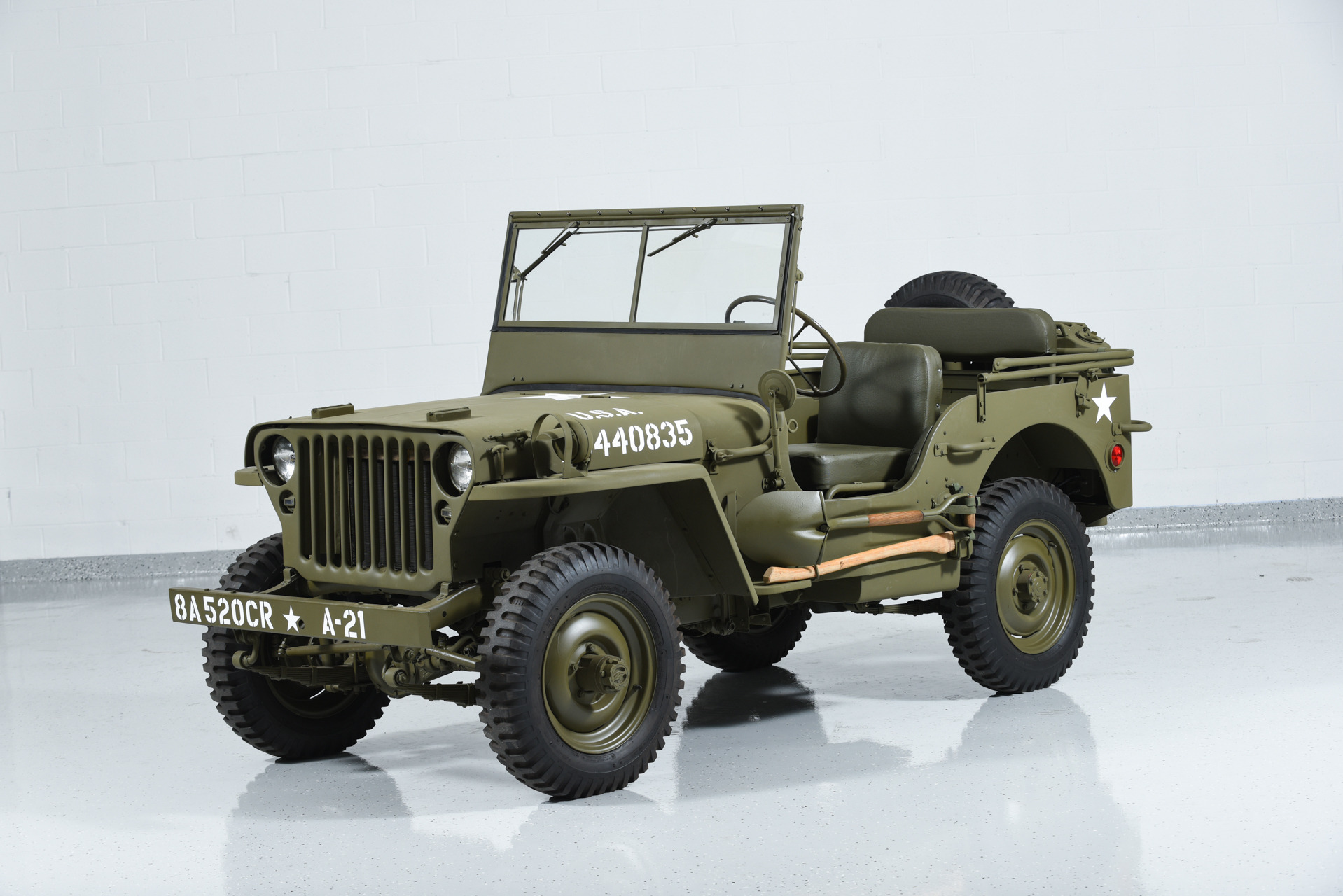used 1941 jeep willys mb military for sale 47 500. Black Bedroom Furniture Sets. Home Design Ideas