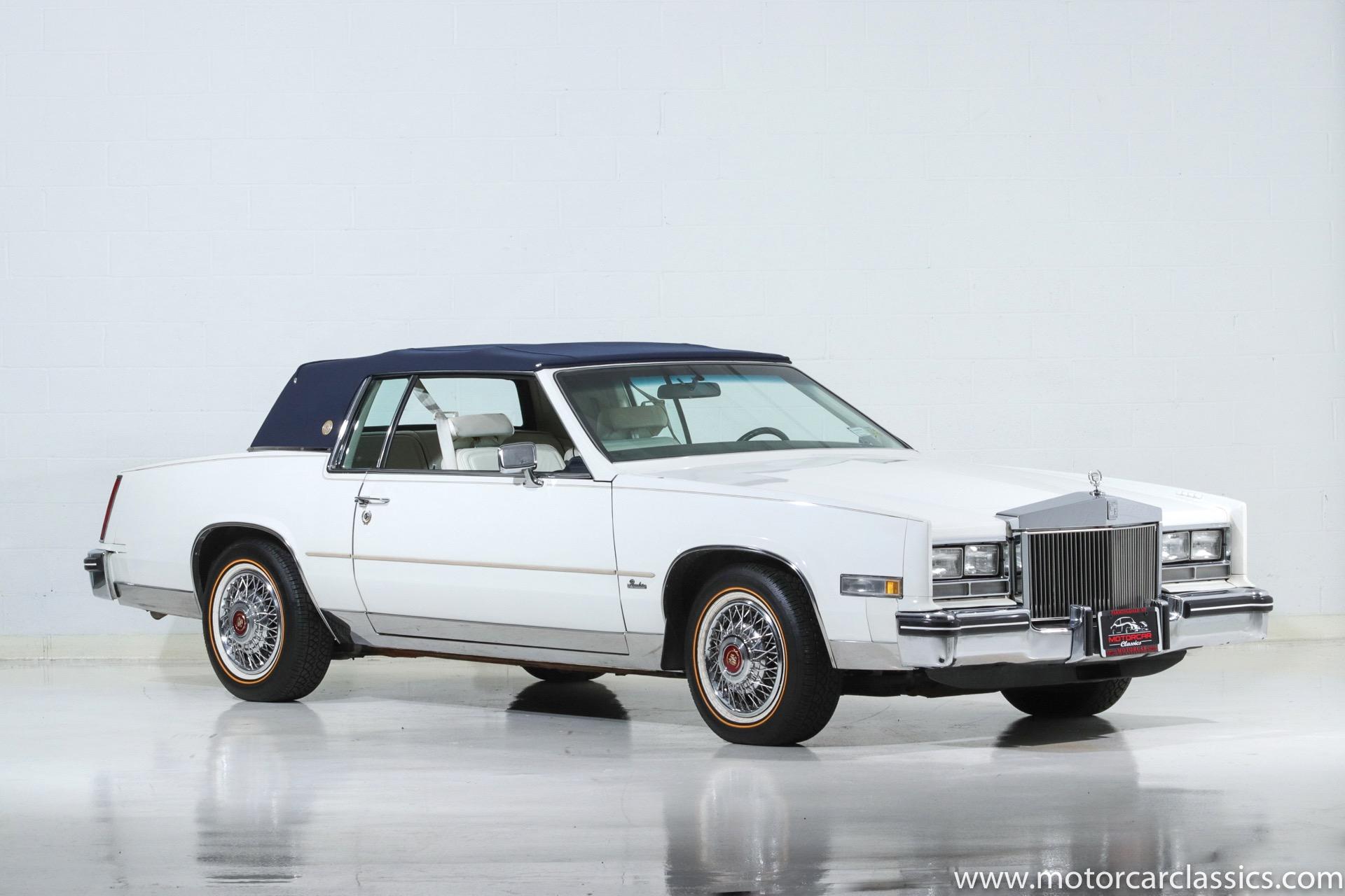 used 1985 cadillac eldorado commemorative edition for sale 12 900 motorcar classics stock 1396 used 1985 cadillac eldorado
