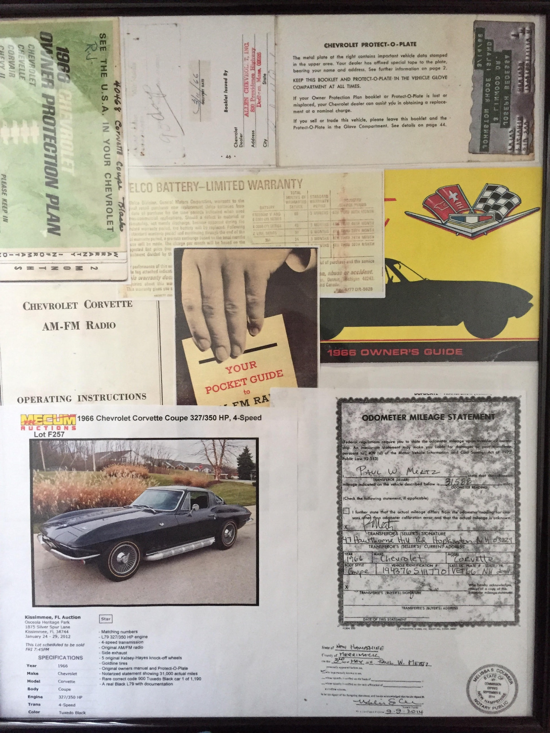 66 1966 Chevrolet owners manual ORIGINAL